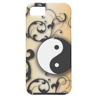 Black With Bronze Yin & Yang iPhone 5 Cover