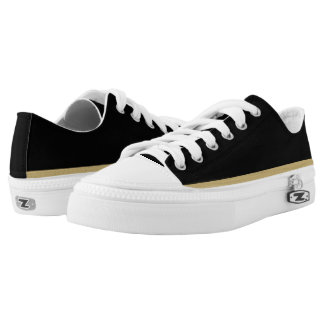 Black with Gold and White Trim Lo-Top