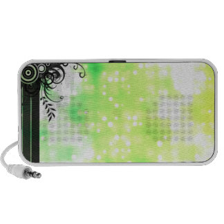 Black with Green Glitter Notebook Speakers