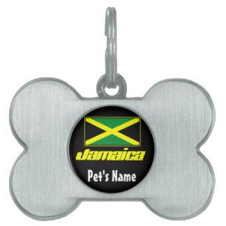 Black with Jamaica Flag Pet Name Tag