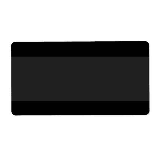 Black with lighter band plain blank