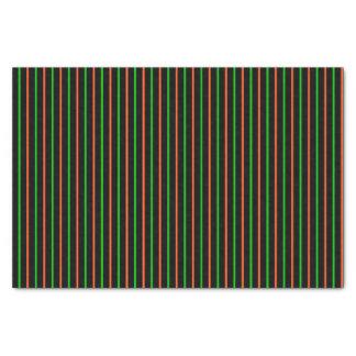 Black with Neon Green & Orange Stripes Tissue Paper