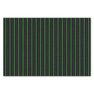 Black with Neon Green & Purple Stripes Tissue Paper