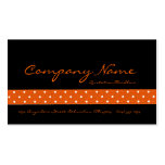 Black with Orange Dotted Ribbon Business Cards