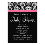 Black with Pink Damask Baby Shower