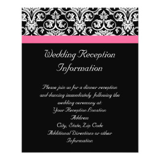 Black with Pink Passion Damask Flyers