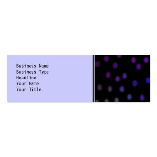 Black with rainbow color rain drops business cards