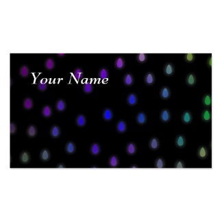 Black with rainbow color rain drops business card templates