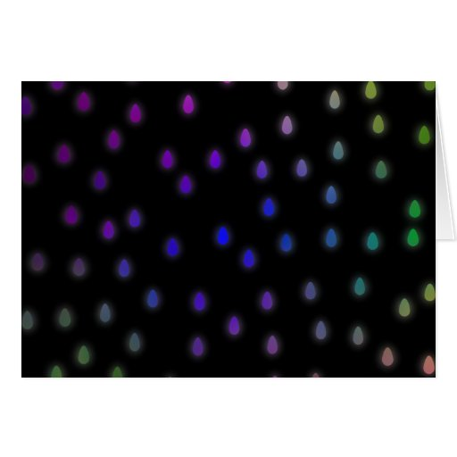 Black with rainbow color rain drops. greeting cards
