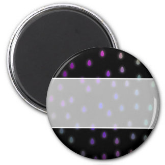 Black with rainbow color rain drops. magnet