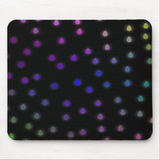 Black with rainbow color rain drops. mouse pads