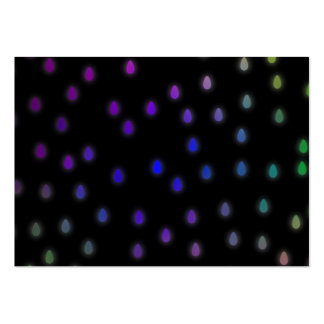 Black with rainbow color rain drops. pack of chubby business cards