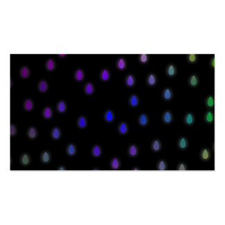 Black with rainbow color rain drops. pack of standard business cards