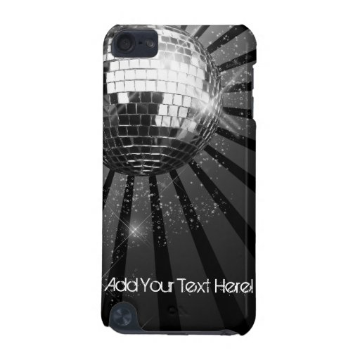 Black with Silver Disco Ball Custom iPod Touch iPod Touch (5th Generation) Covers