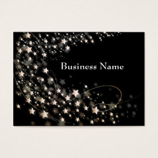 Black With White/Gold Stars Business Cards
