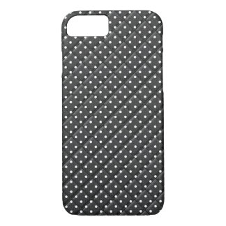 black with white polka dot quilt design iPhone 8/7 case