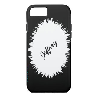 Black with White Splash, Personalized with Name iPhone 7 Case