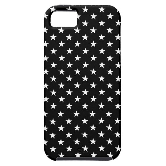 Black with White Stars Polka Dot iPhone 5