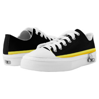 Black with Yellow-Gold Trim Lo-Top