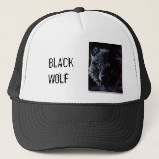 black-wolf, BLACK WOLF Trucker Hat
