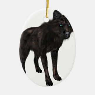 Black Wolf Christmas Ornament