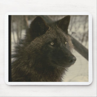 Black Wolf Mouse Mat
