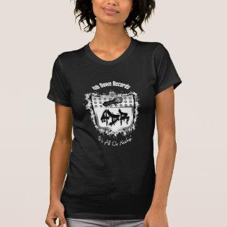 Black Womans 4th Down Records T Shirt