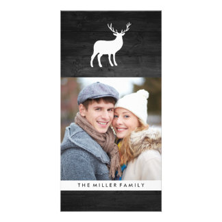 Black Wood and White Stag | Holiday Picture Card