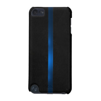 Black Wood Appearance Thin Blue Line iPod Touch 5G Covers