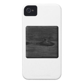 Black Wood Image. iPhone 4 Cover
