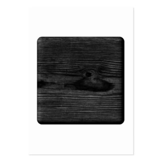 Black Wood Image. Pack Of Chubby Business Cards