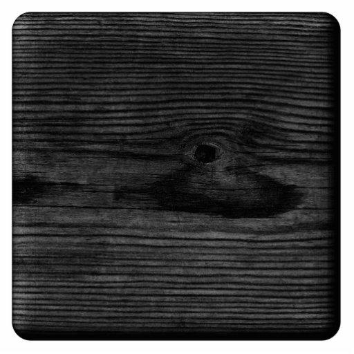 Black Wood Image. Photo Sculptures