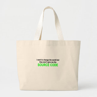 Black World Source Code Men.png Jumbo Tote Bag