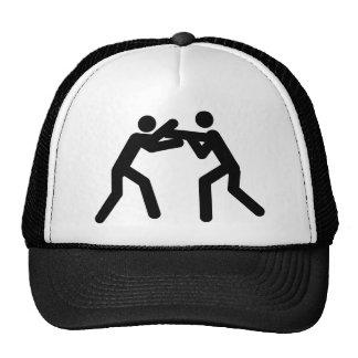 black wrestling sport icon cap