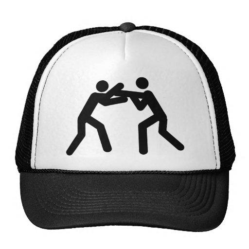 black wrestling sport icon hats