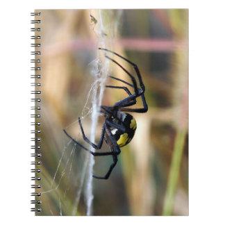 Black & Yellow Argiope Garden Spider Notepad Notebook