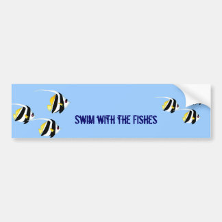 Black & Yellow Bannerfish Bumper Stickers
