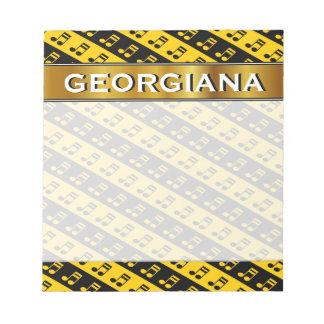 Black & Yellow Beamed Sixteenth Notes Pattern