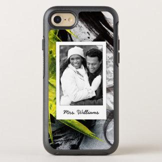 Black & Yellow Brush Strokes   Add Photo OtterBox Symmetry iPhone 8/7 Case