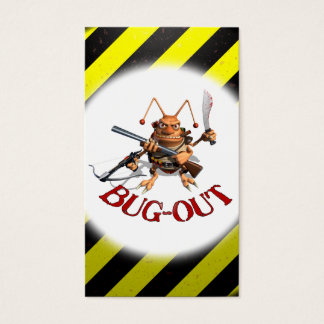 Black & Yellow Bug-Out Business Card