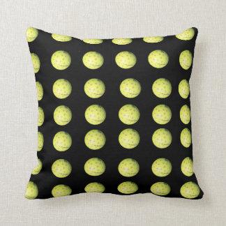 Black Yellow Golf Ball Pattern, Throw Cushion. Cushion