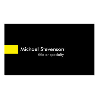 Black Yellow Modern Unique Consultant Pack Of Standard Business Cards