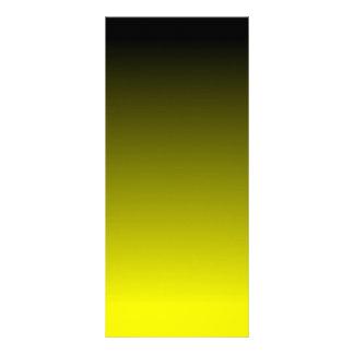 Black Yellow Ombre Custom Rack Card