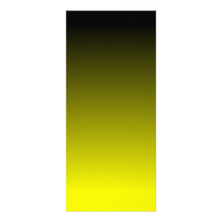 Black Yellow Ombre Rack Card