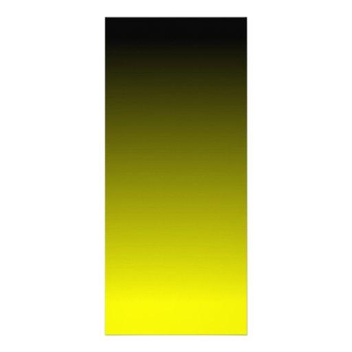 Black Yellow Ombre Rack Card Design