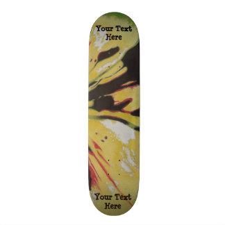 black yellow original modern abstract art design custom skate board