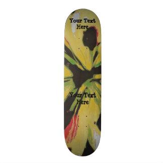 black yellow original modern abstract art design skateboard