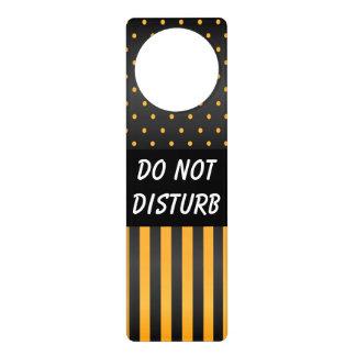 Black & Yellow Polka Dots | Do Not Disturb Sign