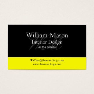 Black & Yellow Professional Business Card
