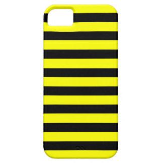Black Yellow Stripe horizontal iPhone 5 case
